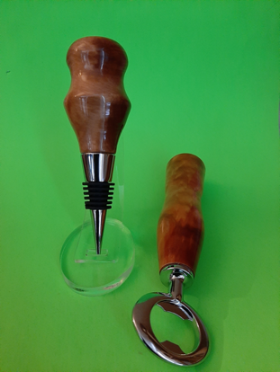 Picture of Eucalyptus Bottle Stopper & Opener