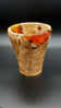 Picture of Olivewood burl and resin vase